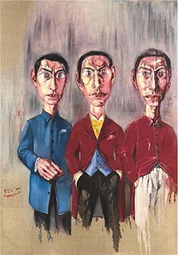 Perfect Effect Canvas ,the High Resolution Art Decorative Canvas Prints Of Oil Painting 'Zeng Fanzhi, Portrait Of Three Men, 20th Century', 30x43 Inch / 76x109 Cm Is Best For Hallway Gallery Art And Home Artwork And Gifts