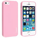 INSTEN® TPU Rubber Skin Case Compatible with Apple® iPhone 5 / 5S, Light Pink Jelly
