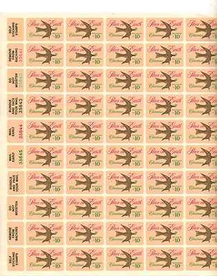 Peace on Earth Christmas Sheet of 50 x 10 Cent US Postage Stamps NEW Scot 1552