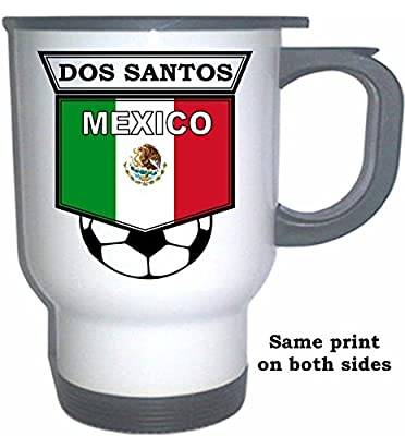 Giovani dos Santos (Mexico) Soccer White Stainless Steel Mug