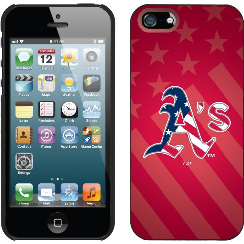 Great Price Oakland Athletics - USA Red design on a Black iPhone 5 Thinshield Snap-On Case by Coveroo