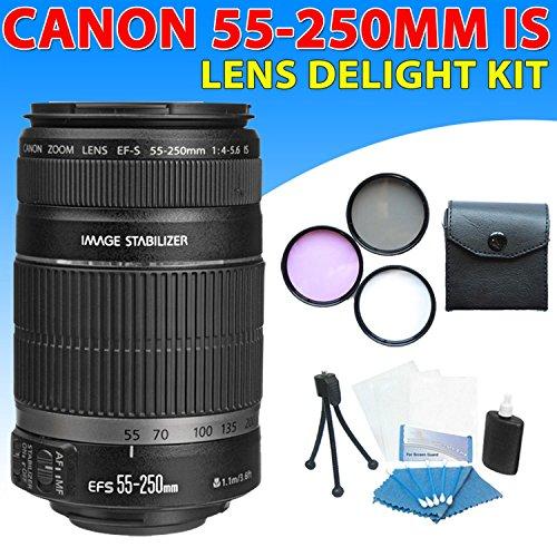 Canon Ef-S 55-250Mm F/4-5.6 Is Autofocus Lens Kit For Canon Eos Rebel Xs(1000D), Xsi(450D) Dslr Cameras