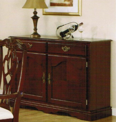 Cheap Server Sideboard with Gold Handles in Cherry Finish (VF_F6072)