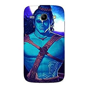Special Warior Shiva Blue Back Case Cover for Galaxy Core