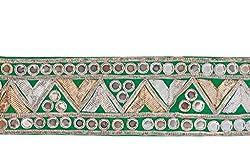 Jaipuree Women Lace Border(Green,9 meters)