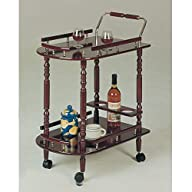 Coaster Serving Cart-Cherry