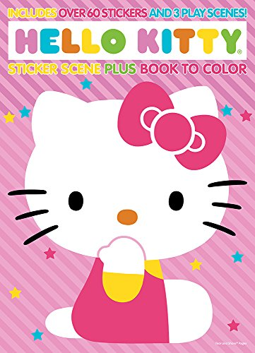Bendon Publishing Hello Kitty Sticker Scene Plus Book to Color