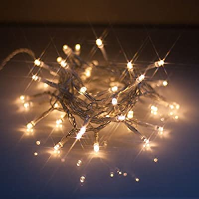LED Battery Lights with Remote Control, Warm White (soft white), 6hr Timer and Multi-function - indoor/outdoor use. Christmas Fairy lights/lighting from Qbis
