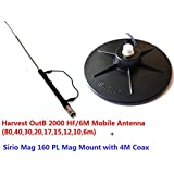 Combo: Harvest OutB2000 HF/6M Mobile Antenna with Sirio Mag 160 PL Mag Mount Kit