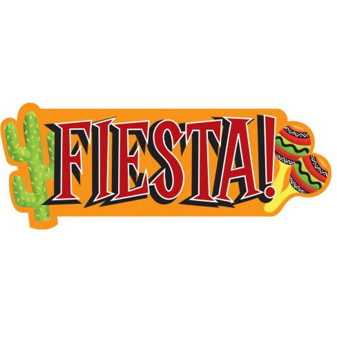 Fiesta Cutout (1 per package)