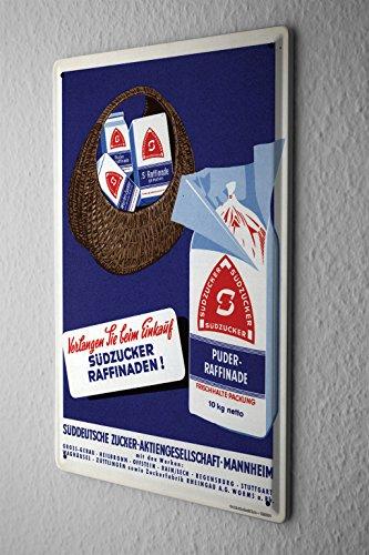 cartel-de-chapa-placa-metal-tin-sign-sudzucker-werbeschild-cm-demanda-cuando-la-compra-de-publicidad
