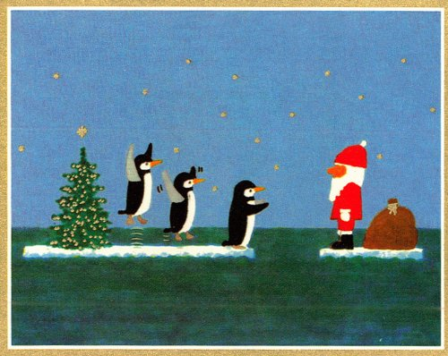 Santa's Arrived - 10 Cancer Research UK Charity Christmas Cards - All profits go towards our life-saving work