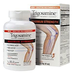 """Trigosamine Jointcare Supplement, Maximum Strength Caplets, 90-Count Bottle """"Now with Vitamin-D"""""""