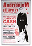 Johnny Cash Tourplakat Motiv Blechschild