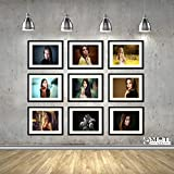 "5 Black Photo Frame Collage Size 4Pc 5"" X 7"", 1Pc 5"" X 5"""