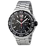 TAG Heuer Men's CAU1110.BA0858 Formula 1 Black Dial Chronograph Steel Watch