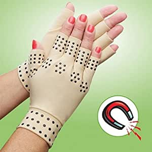 EasyComforts-Arthritis Compression Gloves With Magnets,85% Nylon/15% Spandex