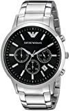 Emporio Armani Men's AR2434 Chronograph Stainless Steel Black Dial Watch