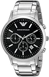 Emporio Armani Classic Analog Black Dial Mens Watch - AR2434