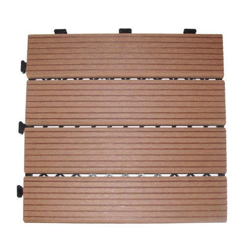 Deck 'n Go Composite Wood Decking Tiles - BROWN (SM-4P-A B)