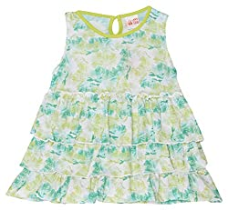 Fs Mini Klub Girls A-line Dress(Green, 5-6 Years)