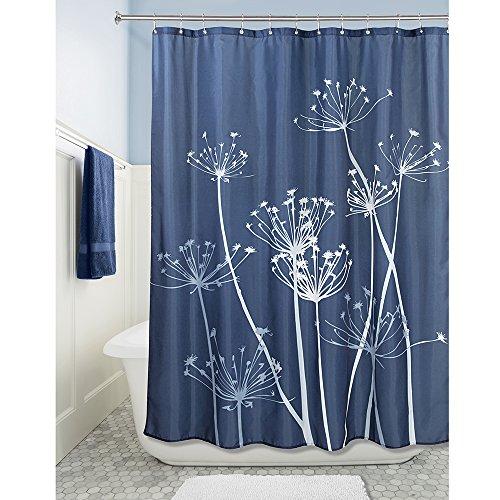 Interdesign Thistle Shower Curtain 72 X 72 Inch Navy