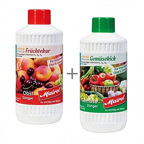 MAIROL Gemüse + Früchte-Dünger Liquid je 500 ml 45151 + 45152