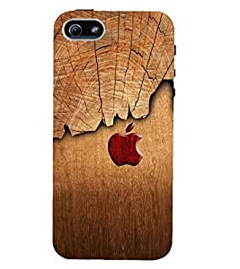 Kingcase Printed Back Case Cover For Apple I Phone 5/5S - Multicolor