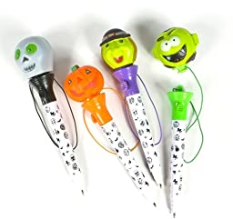 HALLOWEEN POP OUT PENS, Case of 12