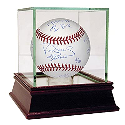 Darryl Strawberry Autographed MLB Baseball With New York Mets Career Stats Inscriptions Le/18