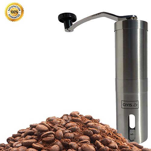 Adjustable Manual Stainless Steel Ceramic Burr Coffee Grinder