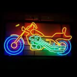 HOZER Professional Motorcycle Design Decorate Neon Light Sign Store Display Beer Bar Sign Real Neon Signboard for Restaurant Convenience Store Bar Billiards Shops