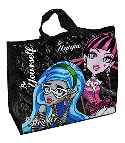 Shopper / Tragetasche / Umhängetasche - Monster High - Kindertasche Tasche Stoff für Mädchen Tragetasche Beutel Einkaufstasche - beschichtet und abwischbar - Strandtasche Reisetasche