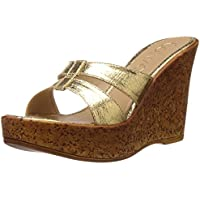 Catwalk Women's Gold Fashion Sandals - 6 UK (6527xx)