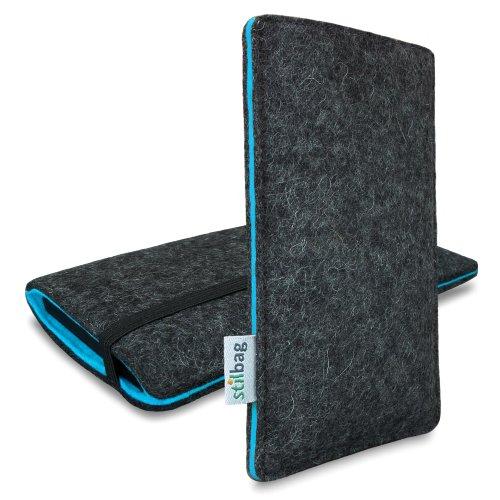 Stilbag Custodia Di Feltro 'Finn' Per Apple Iphone 6S Plus - Colore: Antracite/Azzurro