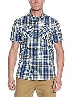 Superdry Camisa Hombre (Azul / Amarillo)
