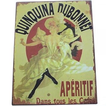 plaques murales m tal d co quinquina quinquina dubonnet 24 x 32 32 cm cuisine maison z191. Black Bedroom Furniture Sets. Home Design Ideas