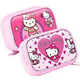 Hello Kitty Pink Zip Pouch Large Carry Case Bag For Nintendo Dsi XL & 3DS XL