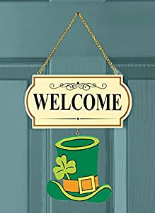 10 Pieces Set Interchangable Multi Holiday Welcome Sign Decoration Wall Hanging Door Festive Plaque Whimsical Decor By CTD Store by CT DISCOUNT STORE