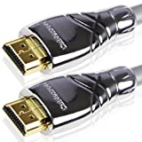 Maestro 8m Ultra Advanced High Speed HDMI Cable. Advanced display resolutions. Capable beyond 1080p to 2160p. With Ethernet & Audio Return Channel (Latest 2.0/1.4a Compatible) Professional Grade built. Deep Colour. Metal Die-cast casing.by Cablesson