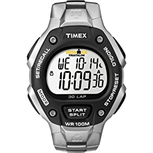 Timex Men's T5H971 Ironman Traditional 30-Lap Stainless Steel Bracelet Watch