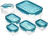 AmazonBasics Air-Locked 6-Piece Food-Storage Set