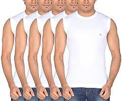 Dora Men's Cotton T-Shirts (Pack of 5, 1109_85, White, 85)