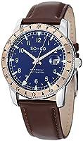 SO&CO York Men's 5018C.3 Yacht Club Analog Display Swiss Quartz Brown Watch by SO&CO New York