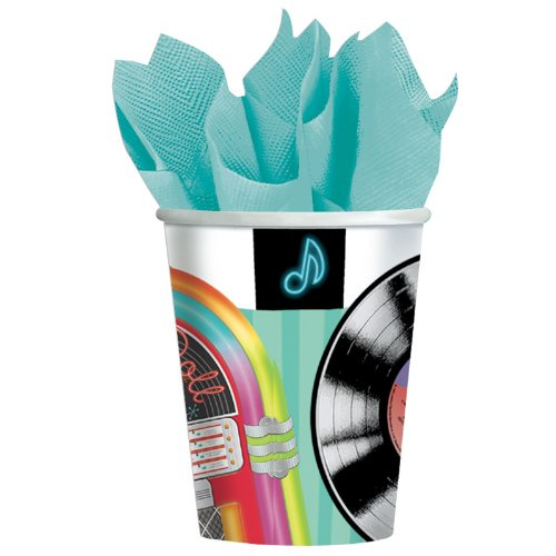 Sock Hop 9oz Paper Cups 8ct - 1