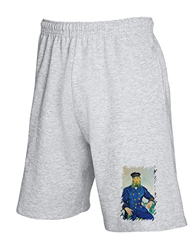 T-Shirtshock - Pantalone Tuta Corto TDA0085 van gogh213 ritratto del procaccia joseph roulin, Taglia XL
