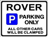 ROVER Car Parking Sign- Gift for sd1 p6 p5 p4 3500 3.5 2000 model owner -Size Large 205 x 270mm by Custom (Made in UK) (All fixing included)