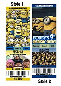 Despicable Me Custom Party Photo Invitation Tickets - You Print