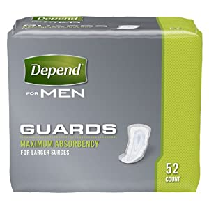 Depend Guards for Men Convenience Pack Maximum Absorbency, 52-Count