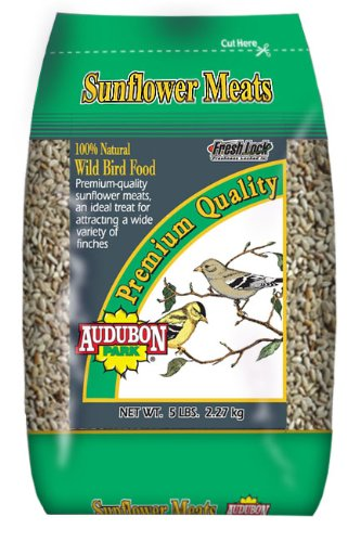 Audubon Park 10301 Premium Sunflower Hearts and Chips, 5-Pound Bag